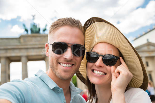 Close-up Of Happy Young Couple Stock photo © AndreyPopov