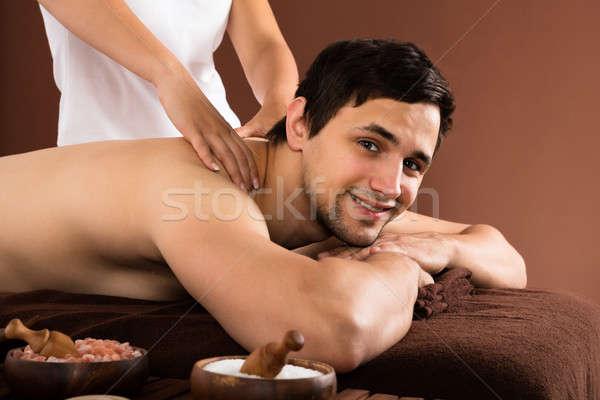 Man Receiving Shoulder Massage Stock photo © AndreyPopov