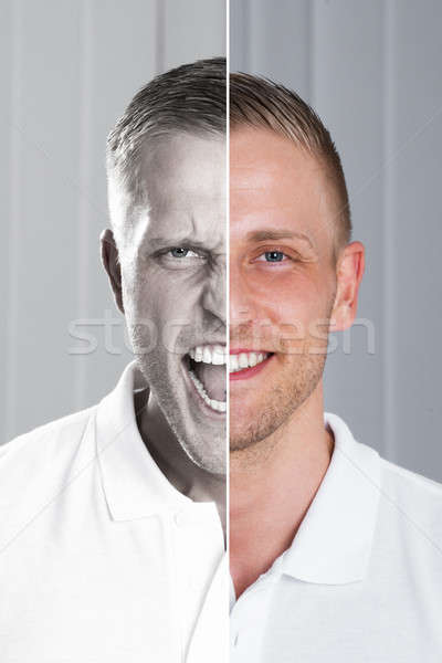 Two Side Face Of Man Stock photo © AndreyPopov