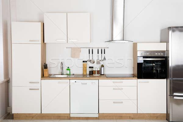 Interior Of Modern Kitchen Stock photo © AndreyPopov
