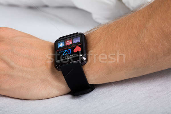 Smart Watch Showing Heartbeat Rate Stock photo © AndreyPopov