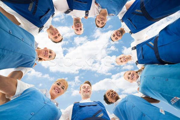 Stałego portret niebo grupy zespołu Chmura Zdjęcia stock © AndreyPopov