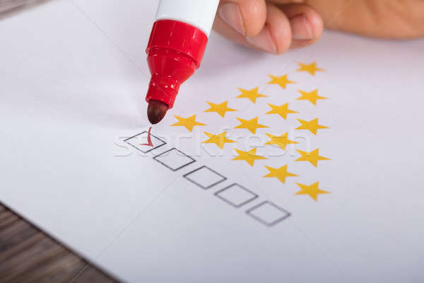 Best Rating Concept With Tick Box Stock photo © AndreyPopov