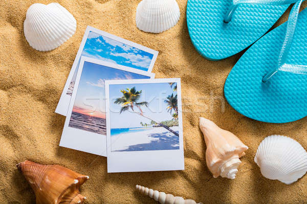Summer Vacation Accessories On Sandy Beach Stock photo © AndreyPopov