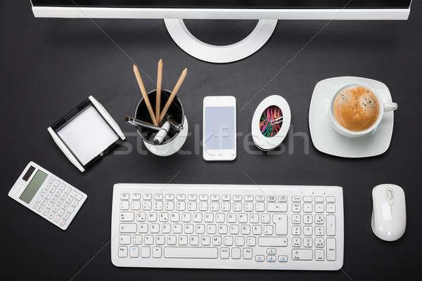 оргтехника столе мнение бизнеса компьютер Сток-фото © AndreyPopov