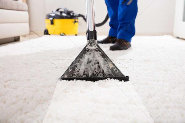 洗浄 カーペット 真空掃除機 クローズアップ ホーム ストックフォト © AndreyPopov