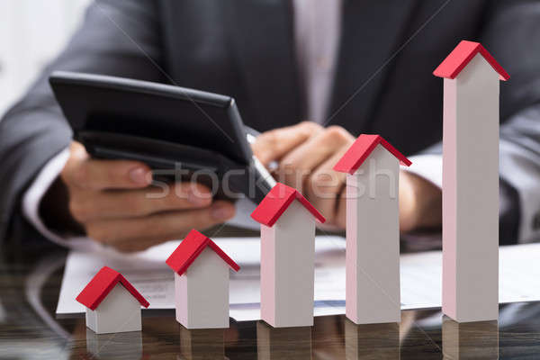 üzletember adó ház modell üzlet otthon Stock fotó © AndreyPopov