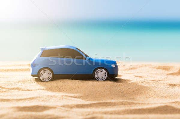 Close-up Of A Blue Car Stock photo © AndreyPopov