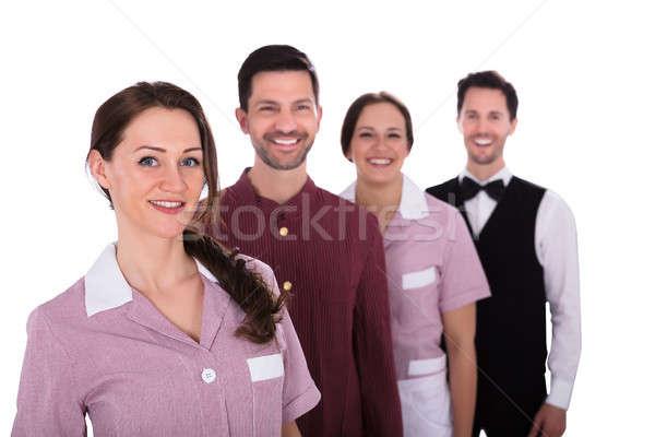 портрет улыбаясь молодые сотрудников группа персонал отеля Сток-фото © AndreyPopov