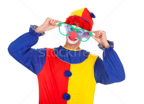 Joker With Big Eyeglasses Stock photo © AndreyPopov