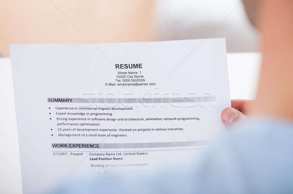 Person Holding Resume Stock photo © AndreyPopov