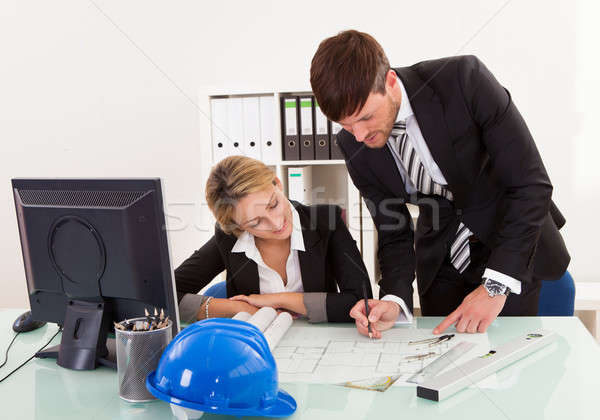 Construction plans revised and signed Stock photo © AndreyPopov