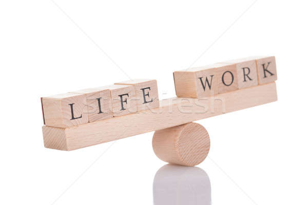 Seesaw Representing Imbalance Between Life And Work Stock photo © AndreyPopov