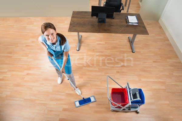 Сток-фото: полу · служба · женщины · очистки · оборудование