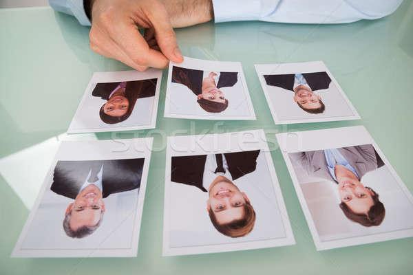 ビジネスマン 手 写真 候補者 クローズアップ ストックフォト © AndreyPopov