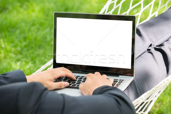 Person In Hammock With Laptop Stock photo © AndreyPopov