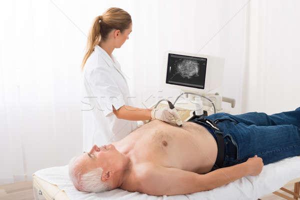 врач ультразвук сканирование живот мужчины пациент Сток-фото © AndreyPopov