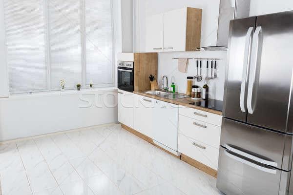 интерьер современных интерьер кухни мнение домой кухне Сток-фото © AndreyPopov