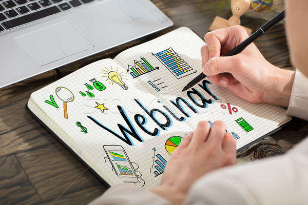 Business Person Drawing Webinar Chart Stock photo © AndreyPopov