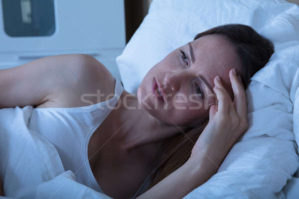 Woman Suffering From Insomnia Stock photo © AndreyPopov