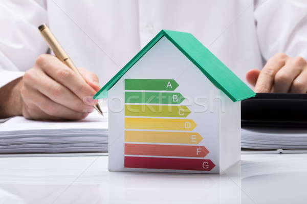 Businessman Calculating Energy Efficient House Stock photo © AndreyPopov