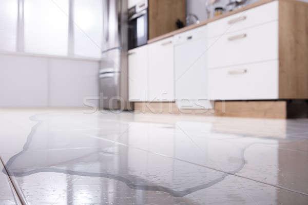Spilled Water On Kitchen Floor Stock photo © AndreyPopov