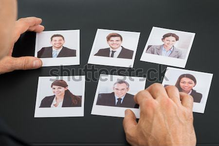 Robot Selecting Candidate Photograph Stock photo © AndreyPopov