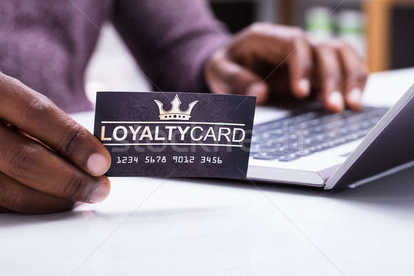 Person Holding Loyalty Card Stock photo © AndreyPopov