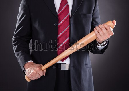 бизнесмен меч белый человека фон Сток-фото © AndreyPopov