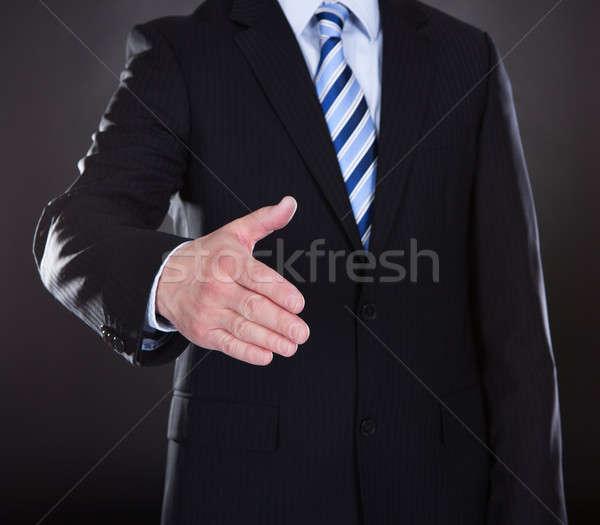 Stock photo: Close-up Of Businessman Offering Handshake