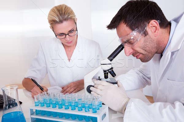 Stock fotó: Orvosi · személyzet · laboratórium · dolgozik · teszt · csövek