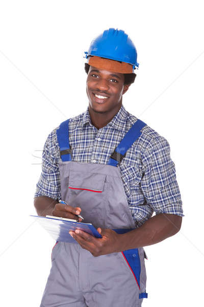 Craftsman Holding Contract Stock photo © AndreyPopov