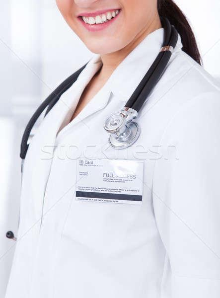 医師 イド カード 聴診器 女性 少女 ストックフォト © AndreyPopov
