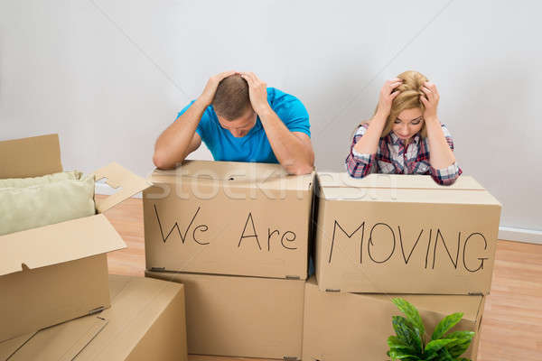 Stressed Couple In New Home Stock photo © AndreyPopov