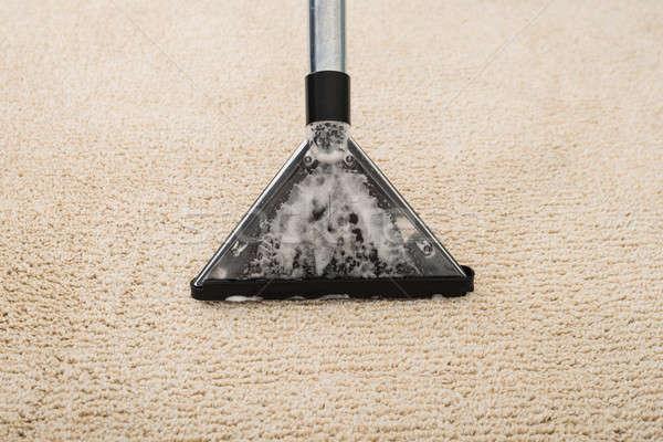 Porszívó szőnyeg hab magasról fotózva kilátás elektromos Stock fotó © AndreyPopov