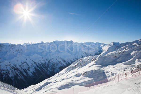 Hegyek Alpok természet hó jég tél Stock fotó © AndreyPopov