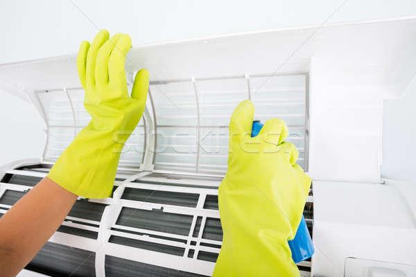 人 洗浄 空調装置 スプレー ボトル クローズアップ ストックフォト © AndreyPopov