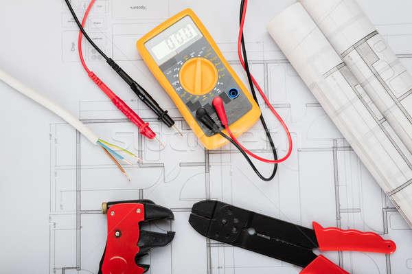 электрические компоненты планов мнение бумаги Сток-фото © AndreyPopov