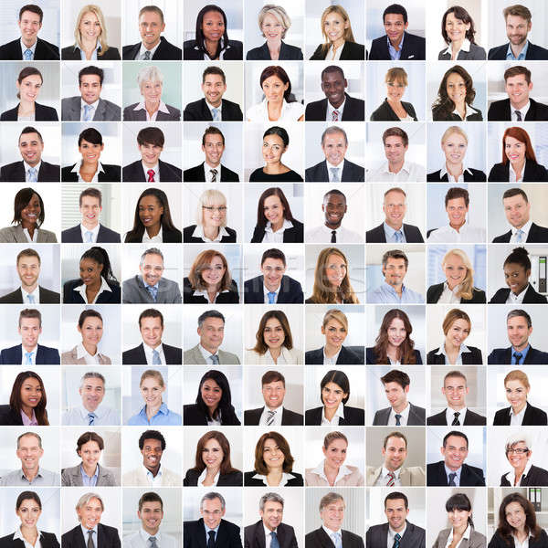 Collage Of Smiling Businesspeople Stock photo © AndreyPopov