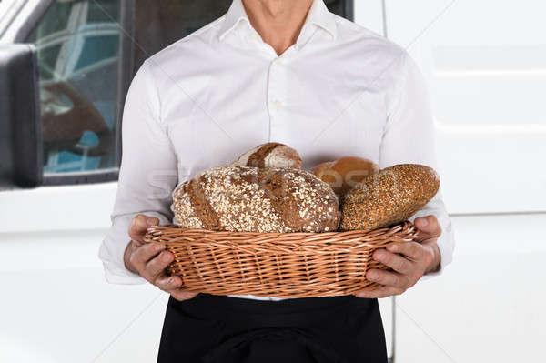 Бейкер корзины хлеб буханка Сток-фото © AndreyPopov