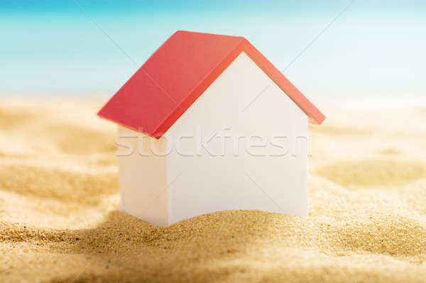 House Model On Beach Stock photo © AndreyPopov