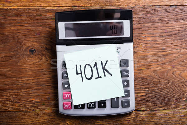 Budget Of 401k In Calculator Stock photo © AndreyPopov