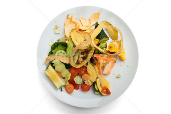 Vegetable And Fruit Peelings On Plate Stock photo © AndreyPopov