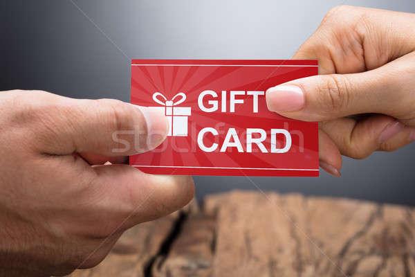 Geschenkkarte Foto Hände Business Job Stock foto © AndreyPopov