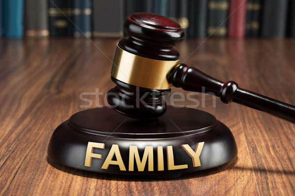 Close-up Of A Gavel With Family Text Stock photo © AndreyPopov
