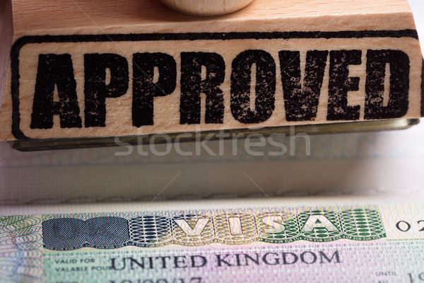Approved Stamp And UK Visa Stock photo © AndreyPopov