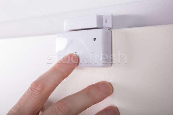 Stockfoto: Technicus · veiligheid · deur · sensor
