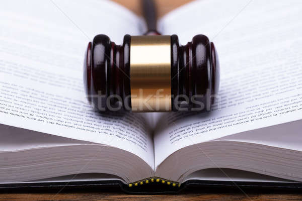 Close-up Of Gavel And Law Book Stock photo © AndreyPopov