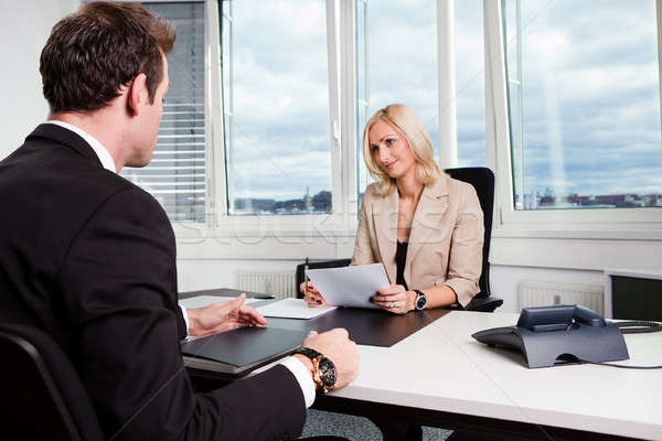 Business Interview Stock photo © AndreyPopov