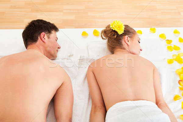 Smiling relaxed couple at a spa Stock photo © AndreyPopov
